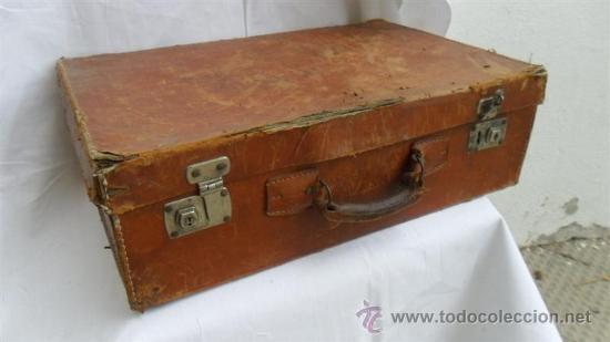 Maleta antigua de cuero comprar en todocoleccion 28196578 for Maletas antiguas online