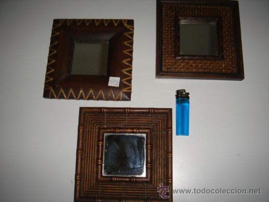 lote de tres pequeos espejos segunda mano hogar y decoracin