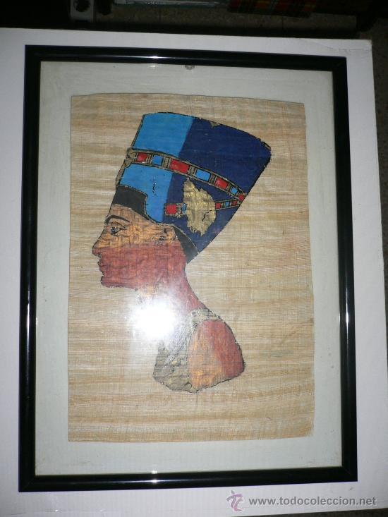 CUADRO PAPYRUS DE EGIPTO (Segunda Mano - Hogar y decoración)