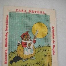 Segunda Mano: TARJETA DE BORDAR: CASA ORTEGA,( UBEDA) MERCERÍA, BISUTERÍA, NOVEDADES, ARTÍCULOS DE REGALOS. Lote 28574089