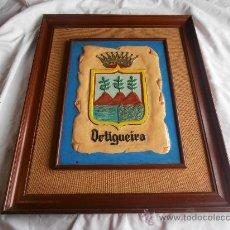 Segunda Mano: CUADRO CON EL ESCUDO DE ORTIGUEIRA. Lote 28614079