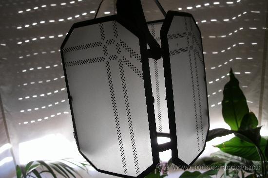 Segunda Mano: LAMPARA DE METAL Y CRISTAL / BUENA CALIDAD / - Foto 6 - 28669753