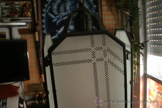 Segunda Mano: LAMPARA DE METAL Y CRISTAL / BUENA CALIDAD / - Foto 2 - 28669753