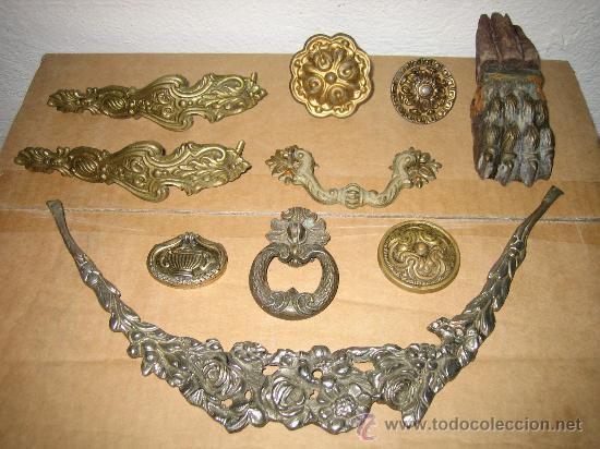 apliques de bronce para muebles comprar en todocoleccion