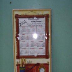 Segunda Mano: AZULEJO CALENDARIO DE PORCELANA DEL 2001 - 28 X 14 CM. Lote 29030199