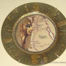 Segunda Mano: PLATO DE PORCELANA EGIPCIA. EGIPTO. FARAÓN TUTANKAMON, NILO, EL CAIRO, GIZA. RECUERDO SOUVENIR. . Lote 29278409
