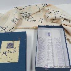 Segunda Mano: JOAN MIRÓ, SUITE LA BAGUE D'AURORE, TEJIDO EN CAJA. MODERNO. Lote 30171867