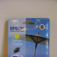 Segunda Mano: CARTUCHO TINTA ORIGINAL EPSON TO454 YELLOW. Lote 30445605