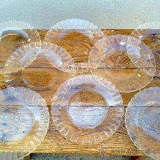 Segunda Mano: LOTE DE 8 PLATOS DE CRITAL LLANOS, DURALEX. Lote 30683966