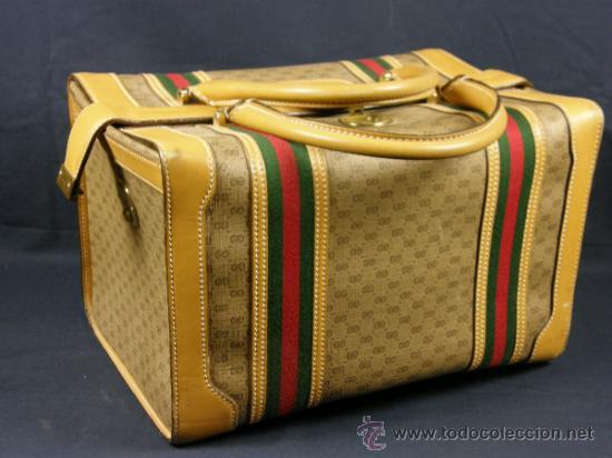 b700dd9f6 Bolso neceser de viaje imitación Gucci mediados SXX 20x22x32 cm 1050 gr