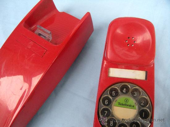 Segunda Mano: TELÉFONO MURAL GÓNDOLA EN COLOR ROJO. AÑOS 80. - Foto 3 - 152238161