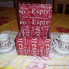 Segunda Mano: JUEGO DE CAFE TU Y YO CON CAJA ORIGINAL. DOS TAZAS Y DOS PLATOS. Lote 36082500