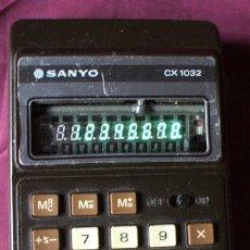 Segunda Mano: CALCULADORA VINTAGE SANYO CX-1032 DE 1979 FUNCIONANDO. Lote 36206513