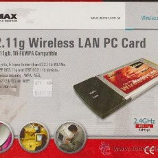 Segunda Mano: EDIMAX 802.11G WIRELESS LAN PC CARD EW-7107PCG WIFI WPA COMPATIBLE 54 MBPS, 32-BIT CARDBUS INTEFACE. Lote 36229712