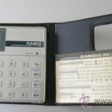 Segunda Mano: CALCULADORA CASIO UC-360 - MUSICAL - CON FUNDA Y PEQUEÑO MANUAL INSTRUCCIONES - JAPAN 80'S - VINTAGE. Lote 36496918