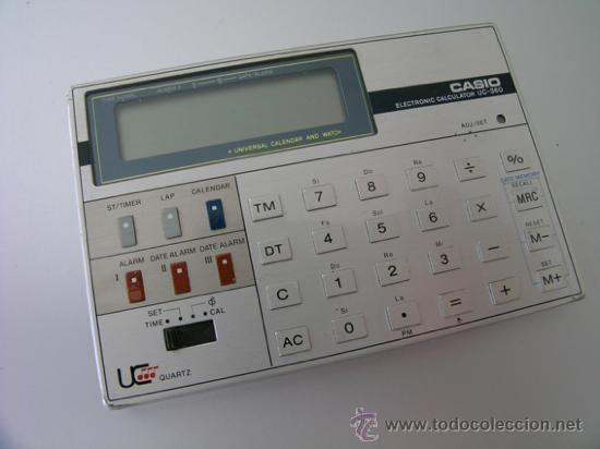 Segunda Mano: Calculadora CASIO UC-360 - Musical - Con funda y Pequeño Manual Instrucciones - Japan 80s - Vintage - Foto 2 - 36496918