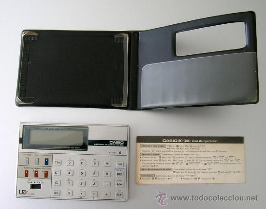 Segunda Mano: Calculadora CASIO UC-360 - Musical - Con funda y Pequeño Manual Instrucciones - Japan 80s - Vintage - Foto 3 - 36496918