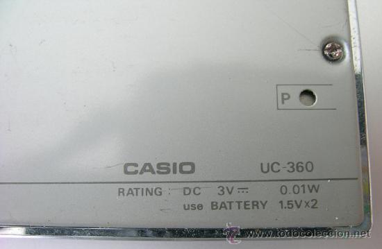 Segunda Mano: Calculadora CASIO UC-360 - Musical - Con funda y Pequeño Manual Instrucciones - Japan 80s - Vintage - Foto 4 - 36496918