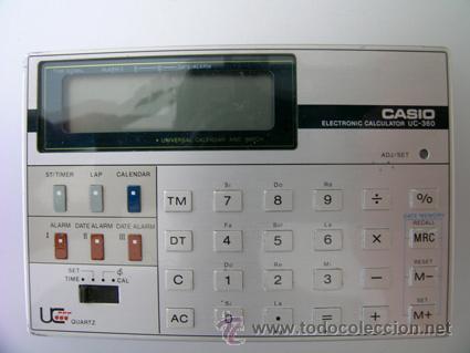 Segunda Mano: Calculadora CASIO UC-360 - Musical - Con funda y Pequeño Manual Instrucciones - Japan 80s - Vintage - Foto 6 - 36496918