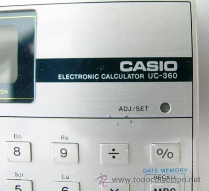 Segunda Mano: Calculadora CASIO UC-360 - Musical - Con funda y Pequeño Manual Instrucciones - Japan 80s - Vintage - Foto 7 - 36496918