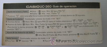 Segunda Mano: Calculadora CASIO UC-360 - Musical - Con funda y Pequeño Manual Instrucciones - Japan 80s - Vintage - Foto 8 - 36496918