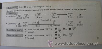 Segunda Mano: Calculadora CASIO UC-360 - Musical - Con funda y Pequeño Manual Instrucciones - Japan 80s - Vintage - Foto 11 - 36496918