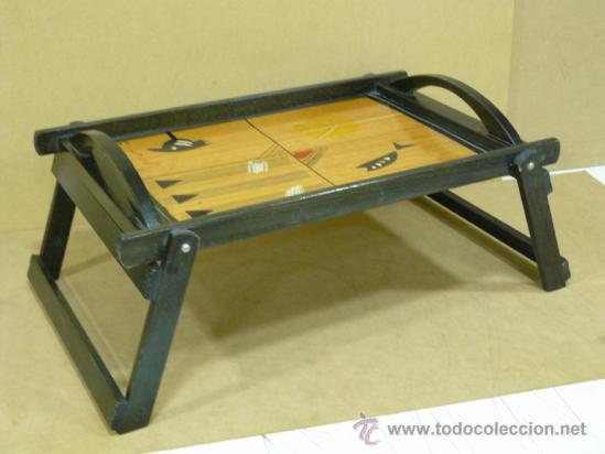 Bandeja de madera con patas abatibles comprar art culos de segunda mano de hogar y decoraci n - Bandeja con patas ...
