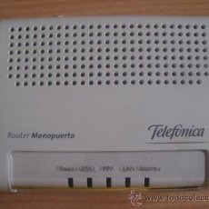 Segunda Mano: . ROUTER MONOPUERTO WI-FI DE TELEFÓNICA. ADSL. Lote 37972249