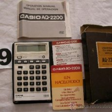 Segunda Mano: ANTIGUA CALCULADORA, RELOJ, ALARMA, CRONOMETRO, CALENDARIO MOD. CASIO AQ-2200. Lote 38056361