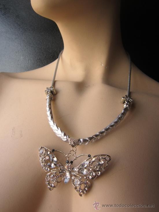 e28afcb28853 Collar-gargantilla mariposa cristal de swarovsk - Sold through ...