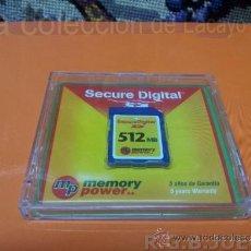 Seconda Mano: TARJETA DE MEMORIA SECURE DIGITAL SD 512 MEGAS MB. Lote 176404503