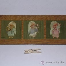 Segunda Mano: CUADRO TABLA CON TRES LAMINAS DE DIBUJOS DE ANGELES ANGEL DEL DIBUJANTE M. J. ARNALOT . Lote 38913920