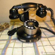 Segunda Mano: ANTIGUO TELEFONO DE MESA. 07.02.1.934 HIERRO- ACERO-BAKELITA DESCRIPCION Y FOTOS VARIAS.. Lote 39305018