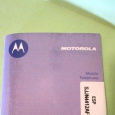 Segunda Mano: TELEFONO ANTIGUO MOVIL MOTOROLA: SUS INSTRUCCIONES.. Lote 39471036