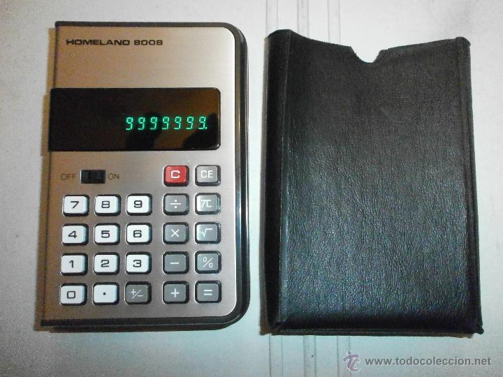 CALCULADORA ANTIGUA MARCA HOMELAND 8008 FUNCIONA (Segunda Mano - Artículos de electrónica)