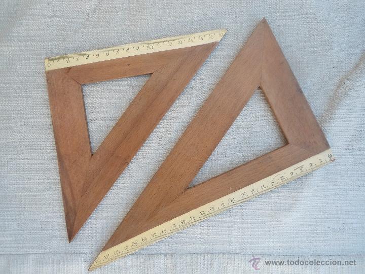 Juego de escuadra y cartabon de madera comprar en - Cabana de madera segunda mano ...