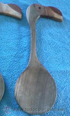 Segunda Mano: Preciosa pareja de cubiertos para ensalada tallados en forma de Tucan . Proceden de Cuba - Foto 3 - 39895766