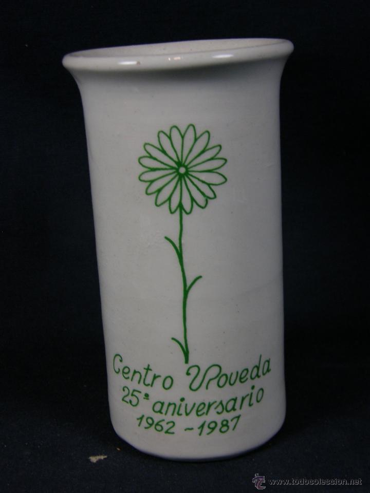 BOTE PORTA LÁPICES DE CERÁMICA 25 ANIVERSARIO CENTRO POVEDA 1962 1987 (Segunda Mano - Hogar y decoración)