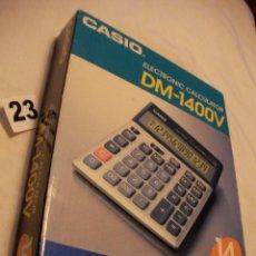 Segunda Mano: ANTIGUA CALCULADORA ELECTRONICA CASIO DM-1400 V NUEVA EN SU CAJA SIN USAR . Lote 40630071