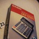 Segunda Mano: ANTIGUA CALCULADORA ELECTRONICA CASIO DM-1200 V NUEVA EN SU CAJA SIN USAR. Lote 40630083