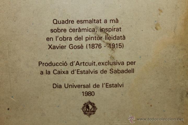 Segunda Mano: BALDOSA ESMALTADA A MANO, INSPIRADA EN LA OBRA DEL PINTOR XAVIER GOSÉ - AÑO: 1980 - Foto 6 - 41079501