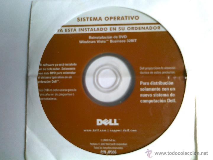 DVD WINDOWS VISTA BUSINESS 32 BIT-DELL (Segunda Mano - Artículos de electrónica)