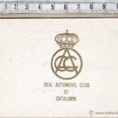 Segunda Mano: FUNDA PLÁSTICO DOCUMENTACIÓN-REAL AUTÓMOVIL CLUB DE CATALUNYA.. Lote 42161443