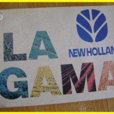 Segunda Mano: CATÁLOGO LA GAMA TRACTORES NEW HOLLAND (+EMPACADORA, COSECHADORA, VENDIMIADORA) 25 LÁMINAS, AÑO 1997. Lote 42221589