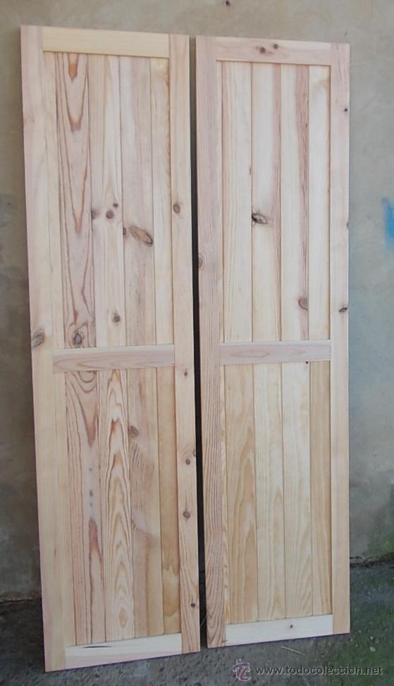Puertas de madera maciza 2 hojas armario empo comprar for Decoracion puertas vintage