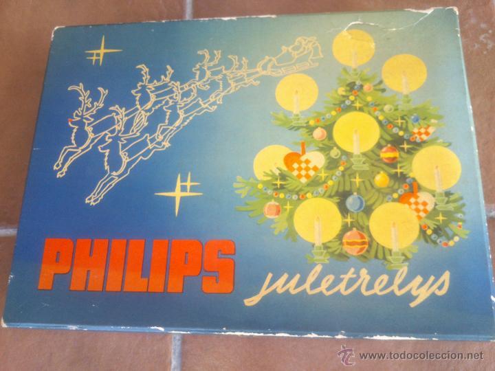ANTIGUO JUEGO LUCES DE NAVIDAD PHILIPS JULETRELYS AÑO;1964 (Segunda Mano - Hogar y decoración)