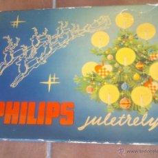 Segunda Mano: ANTIGUO JUEGO LUCES DE NAVIDAD PHILIPS JULETRELYS AÑO;1964. Lote 42838409