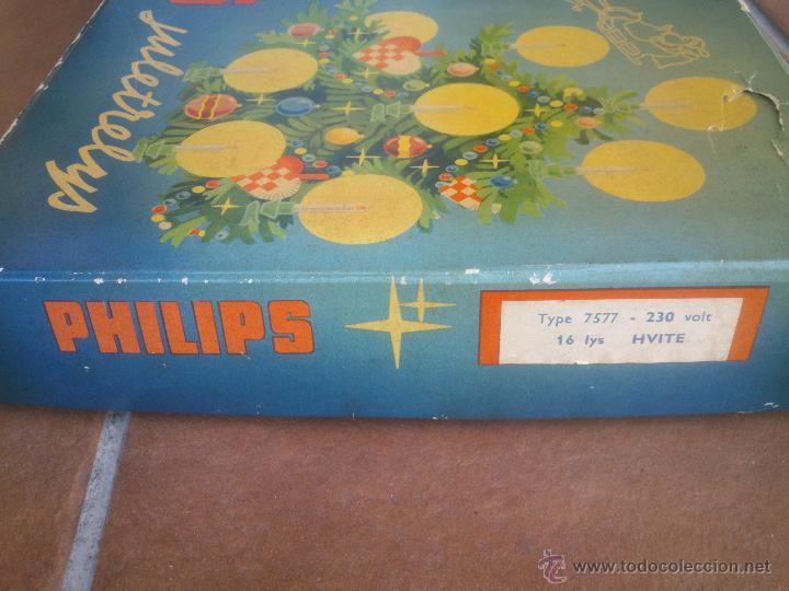 Segunda Mano: ANTIGUO JUEGO LUCES DE NAVIDAD PHILIPS JULETRELYS AÑO;1964 - Foto 2 - 42838409