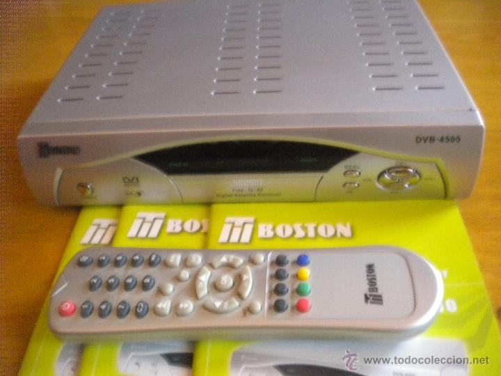 RECEPTOR DIGITAL DE SATELITE BOSTON DVB - 4500 NUEVO,NUEVO NUEVO,PRACTICAMENTE SIN ESTRENAR (Segunda Mano - Artículos de electrónica)