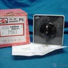 Segunda Mano: INTERRUPTOR/ CONMUTADOR BIPOLAR 40 A 600V MARCA GAVE REF. P561 SERIE P-5 - NUEVO. Lote 43299093